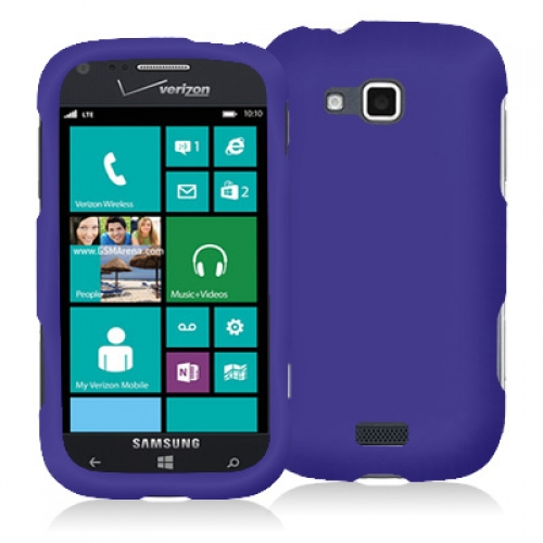 Samsung ATIV Odyssey Purple Hard Rubberized Case Cover