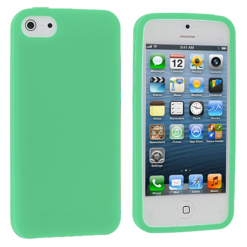 Apple iPhone 5/5S/SE Mint Green Silicone Soft Skin Case Cover