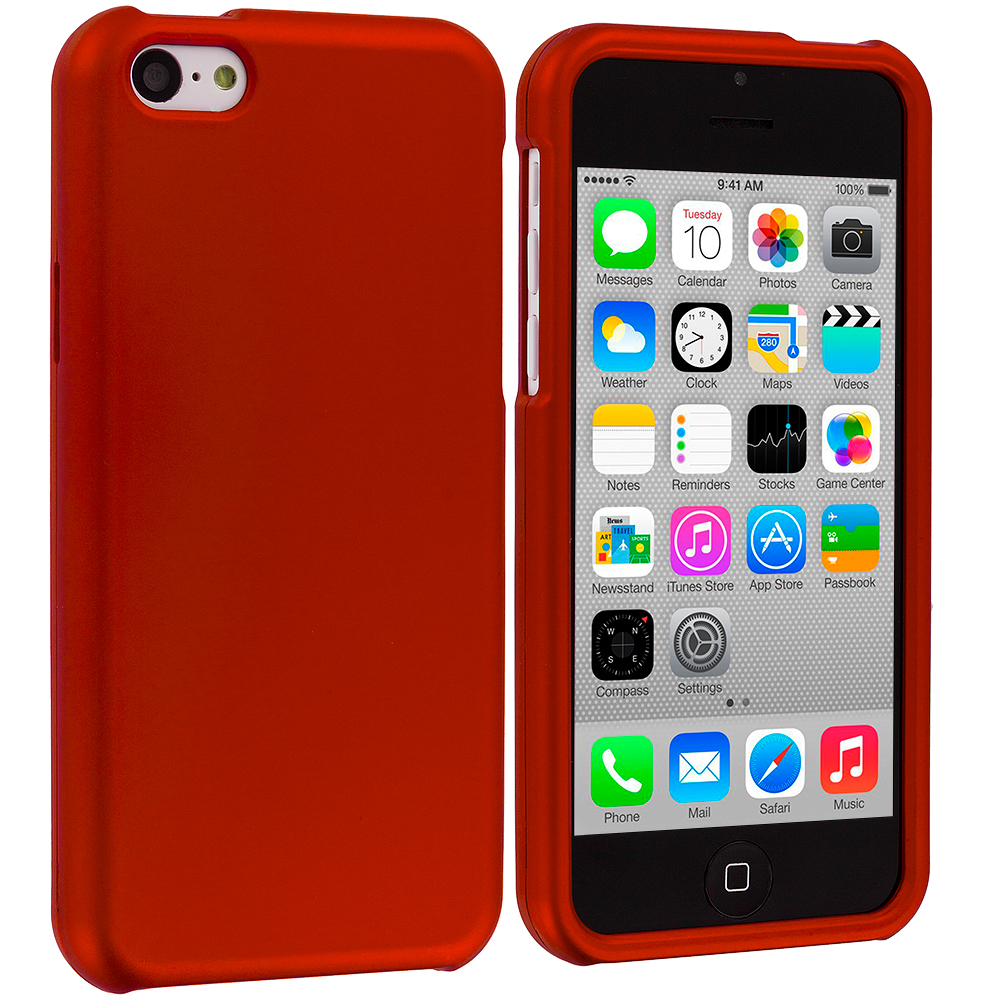 Apple iPhone 5C Orance Hard Rubberized Case Cover
