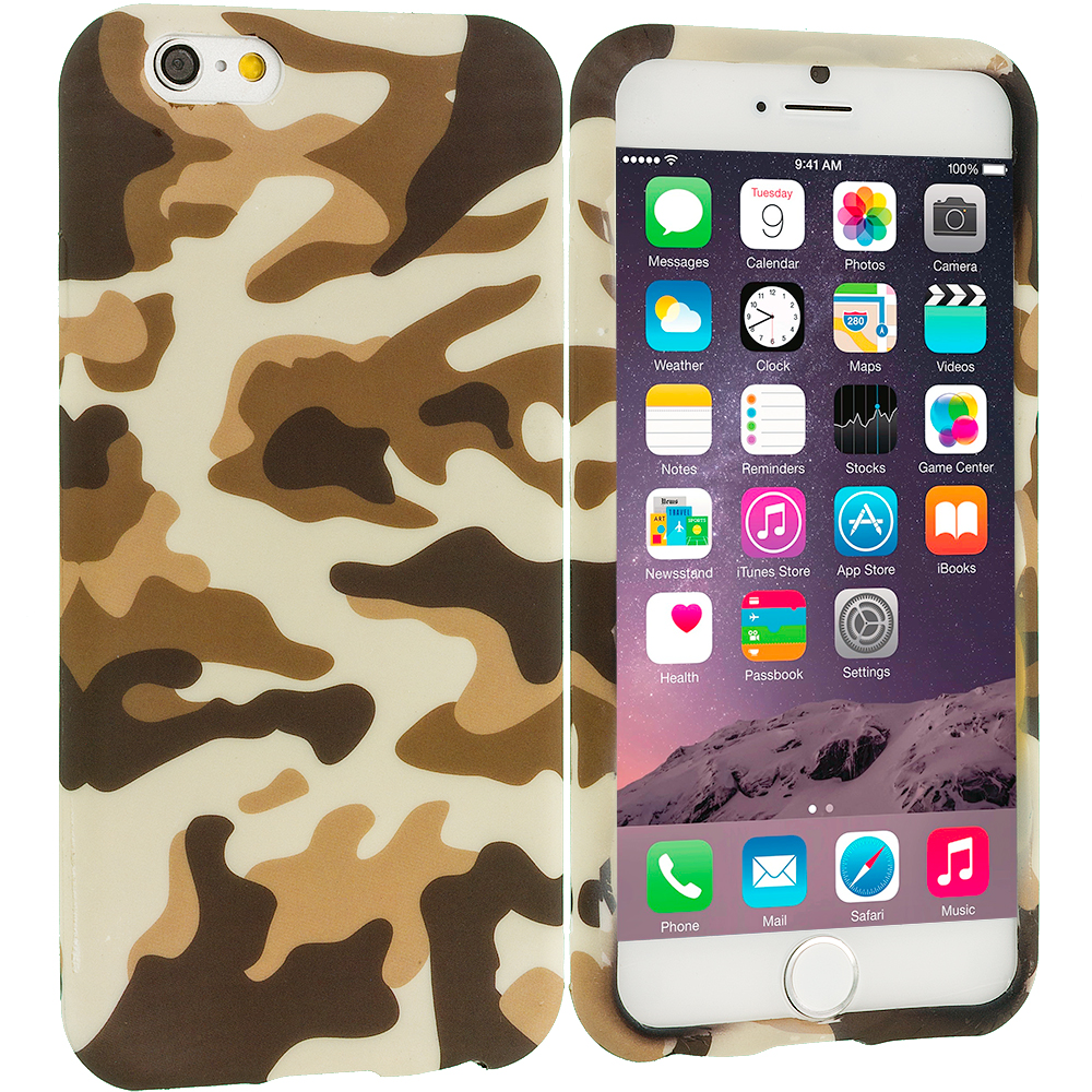 Apple iPhone 6 Plus 6S Plus (5.5) Camo TPU Design Soft Rubber Case Cover