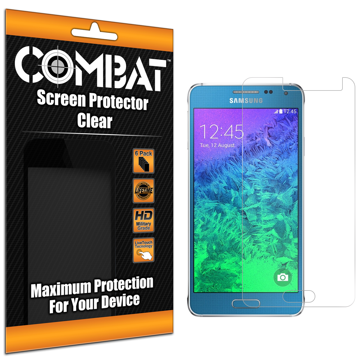 Samsung Galaxy Alpha G850 Combat 6 Pack HD Clear Screen Protector