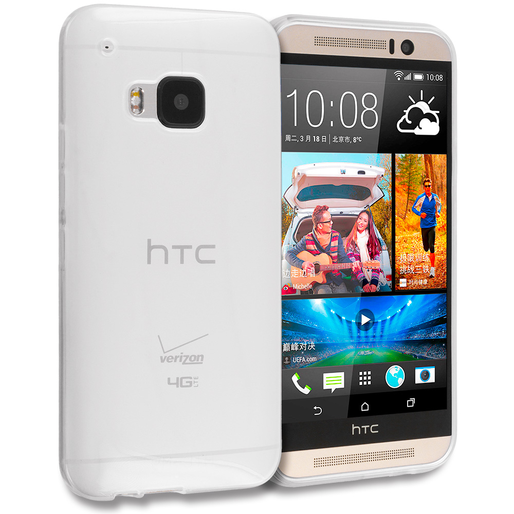 HTC One M9 Clear TPU Rubber Skin Case Cover