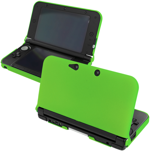 New 2015 Nintendo 3DS XL Neon Green Hard Rubberized Case Cover