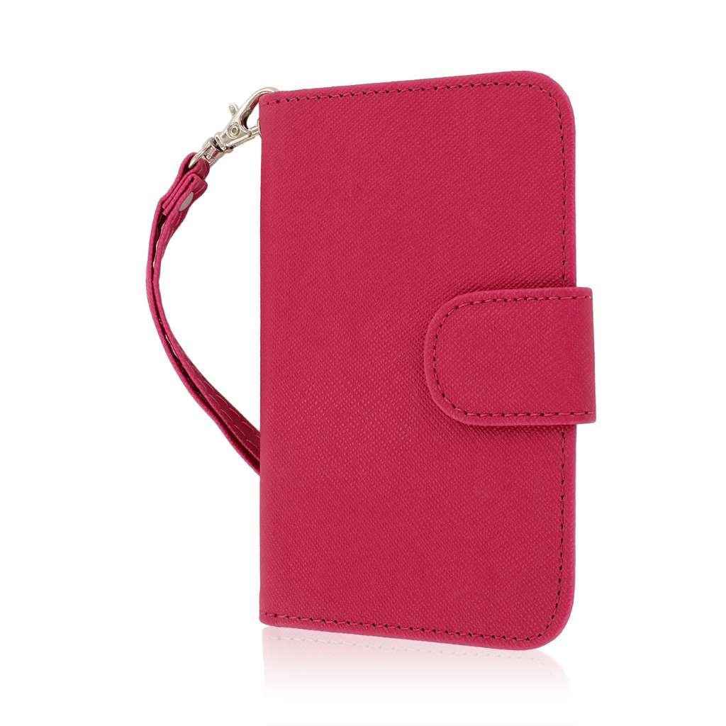 BlackBerry Q5 - Hot Pink MPERO FLEX FLIP Wallet Case Cover