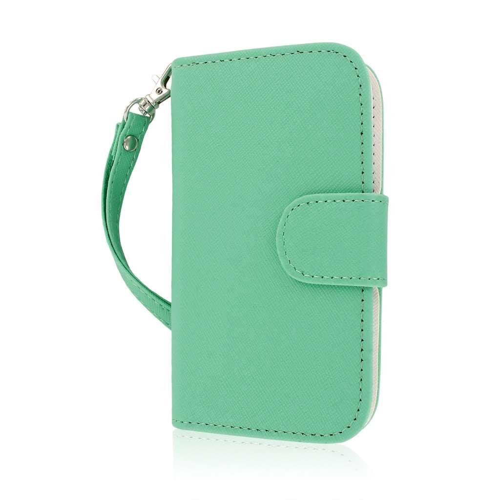 ZTE Concord 2 - Mint MPERO FLEX FLIP Wallet Case Cover