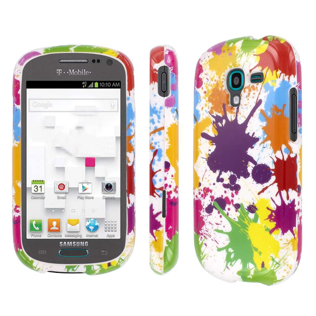 Samsung Galaxy Exhibit - White Paint Splatter MPERO SNAPZ - Glossy Case