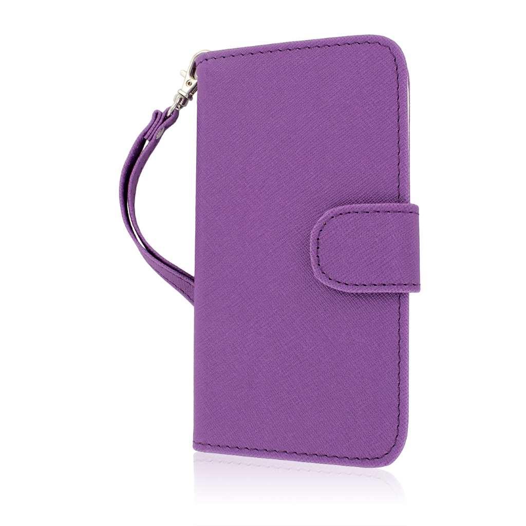 Samsung Galaxy S5 - Purple MPERO FLEX FLIP Wallet Case Cover