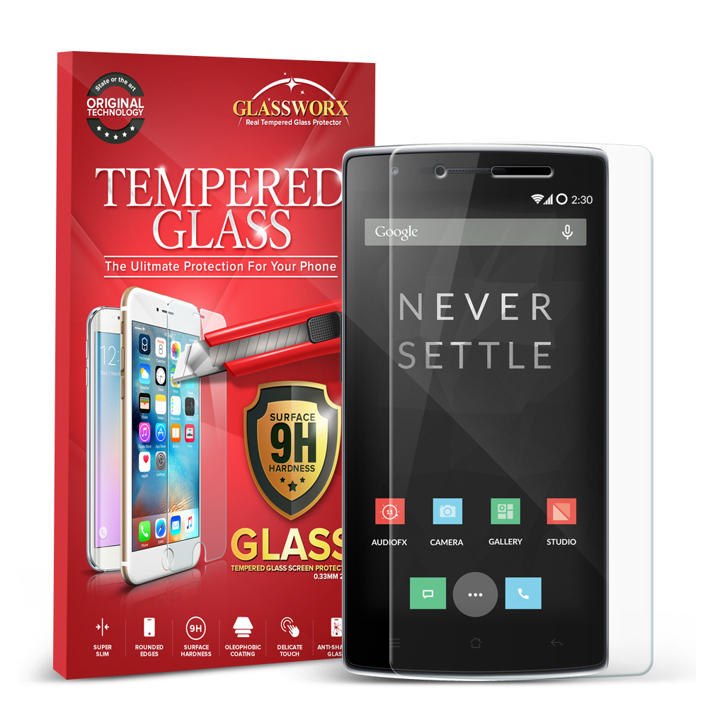 OnePlus One GlassWorX HD Clear Tempered Glass Screen Protector
