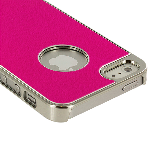 Apple iPhone 5/5S/SE Hot Pink Aluminum Metal Hard Case Cover