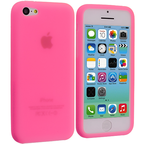 Apple iPhone 5C Light Pink Silicone Soft Skin Case Cover
