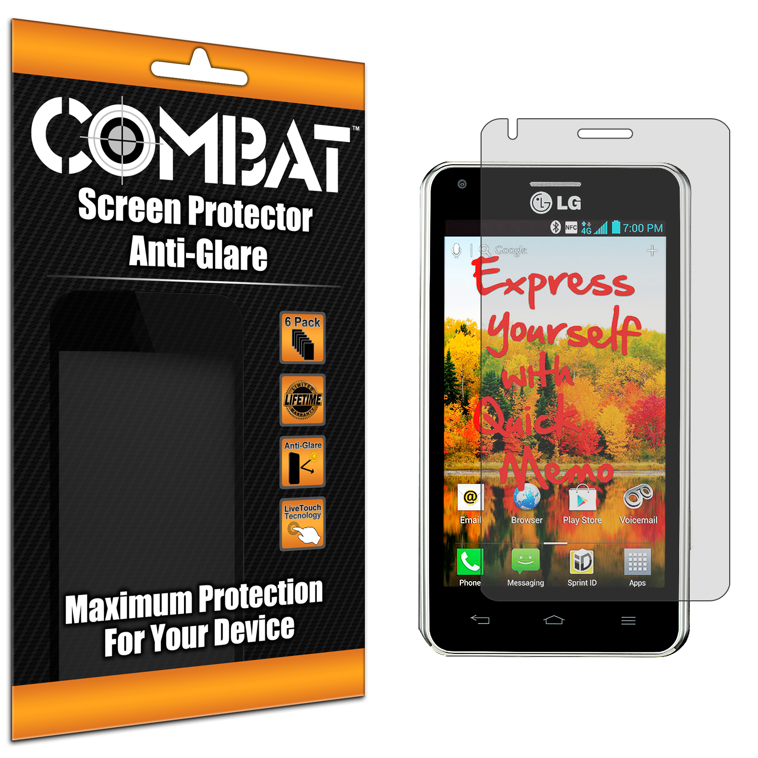 LG Mach LS860 Combat 6 Pack Anti-Glare Matte Screen Protector
