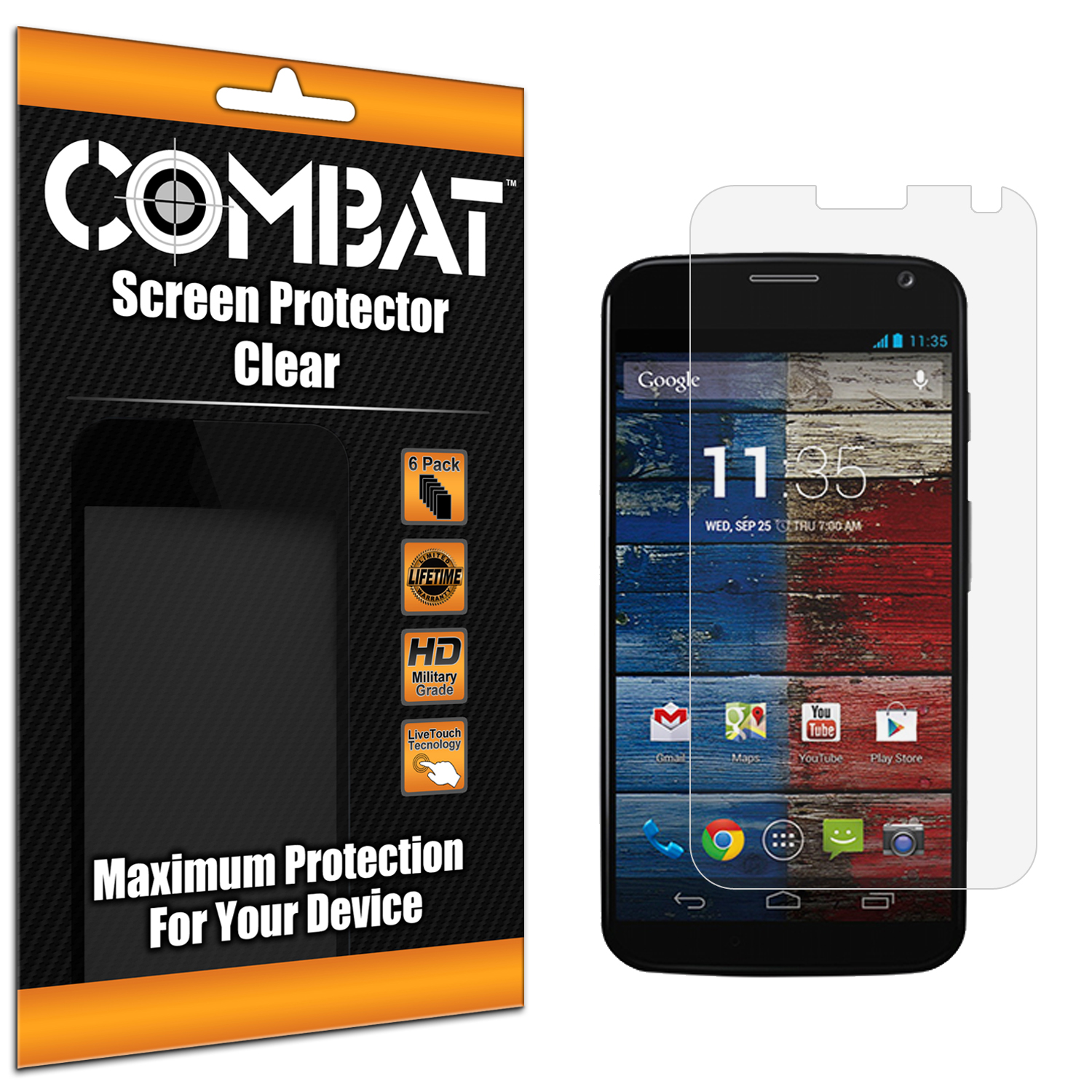 Motorola Moto X Combat 6 Pack HD Clear Screen Protector