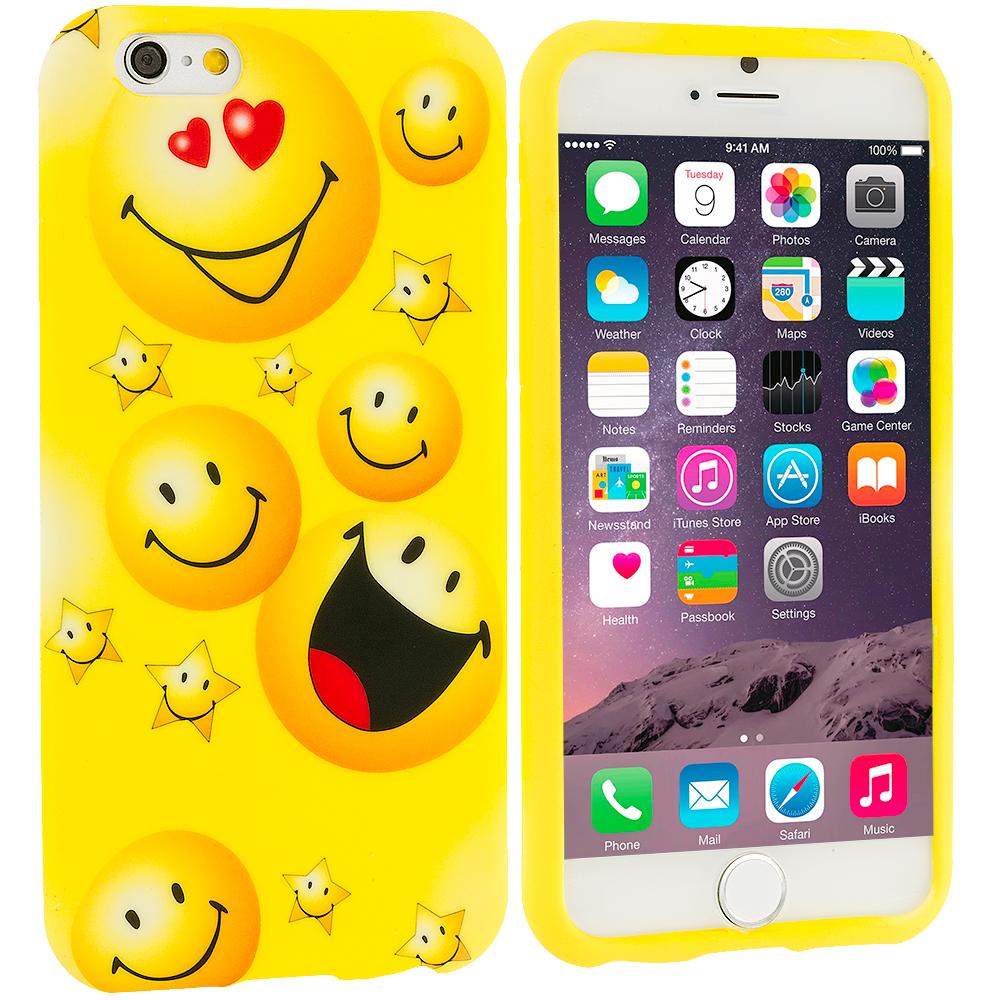 Apple iPhone 6 Plus 6S Plus (5.5) Smiley Face TPU Design Soft Rubber Case Cover