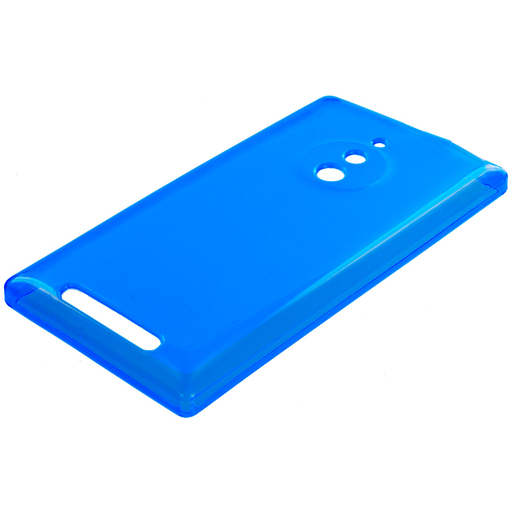 Nokia Lumia 830 Blue TPU Rubber Skin Case Cover