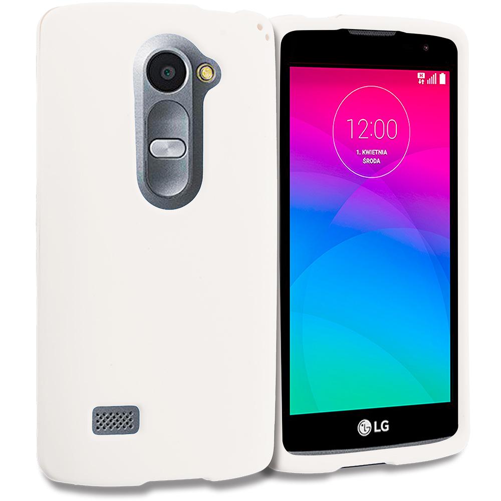 LG Tribute 2 Leon Power Destiny White Hard Rubberized Case Cover