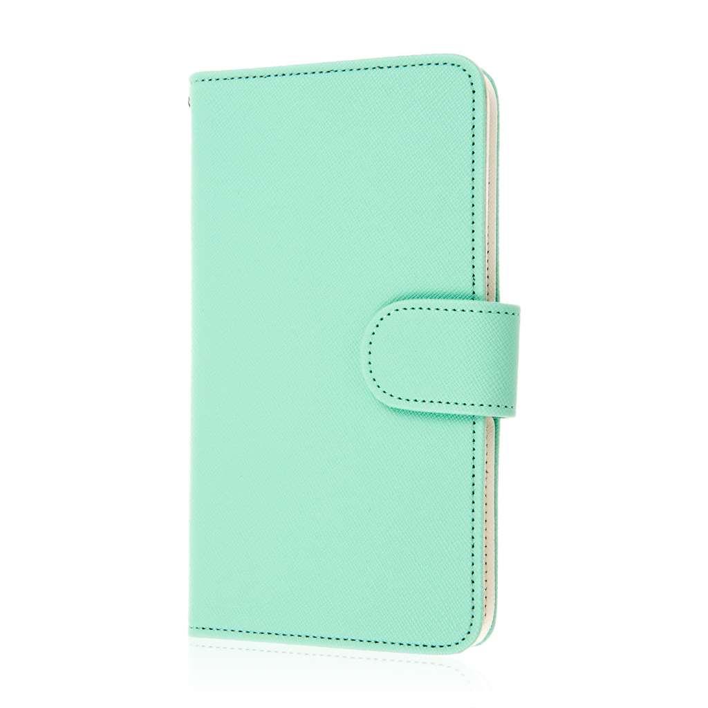 Samsung Galaxy Note Edge - Mint MPERO FLEX FLIP Wallet Case Cover