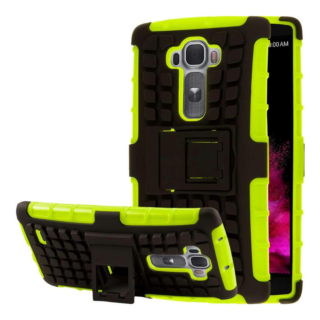 LG G Flex 2 - Neon Green MPERO IMPACT SR - Kickstand Case Cover