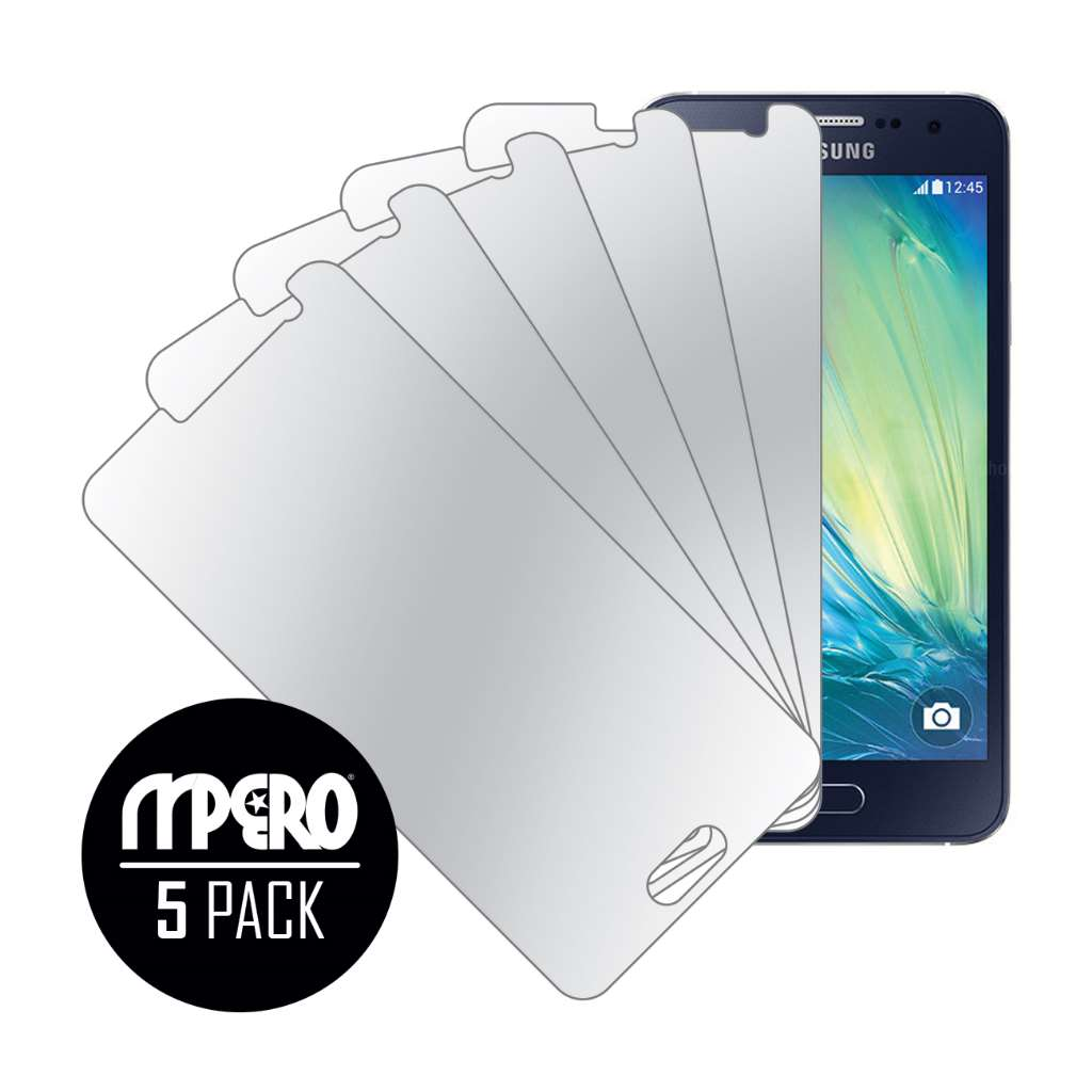 Samsung Galaxy A3 MPERO 5 Pack of Mirror Screen Protectors