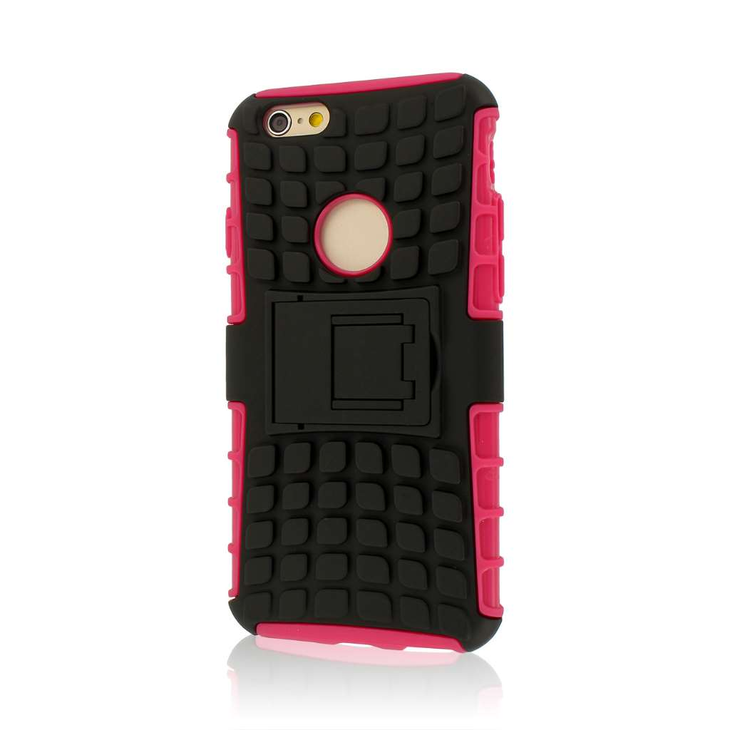 Apple iPhone 6/6S - Hot Pink MPERO IMPACT SR - Kickstand Case Cover