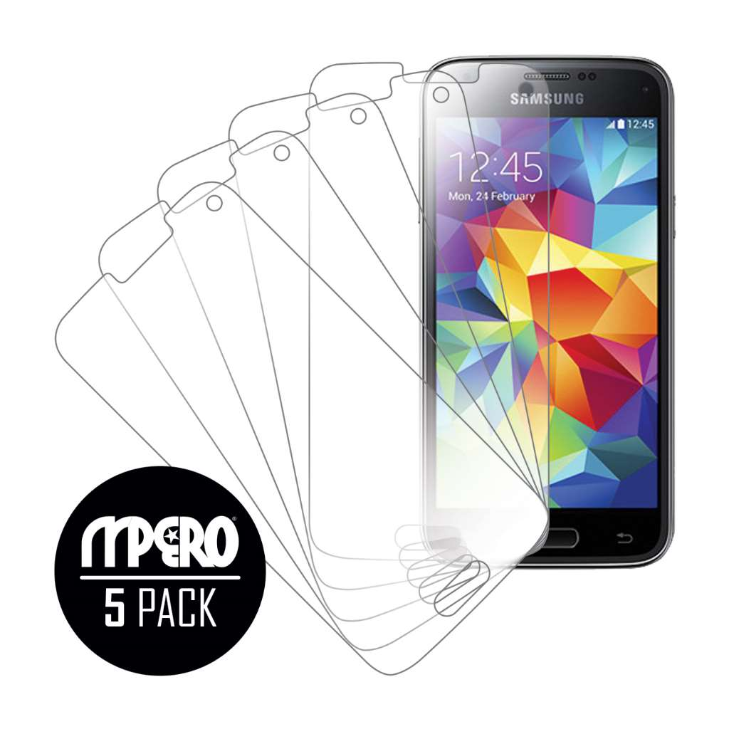 Samsung Galaxy S5 Mini MPERO 5 Pack of Clear Screen Protectors