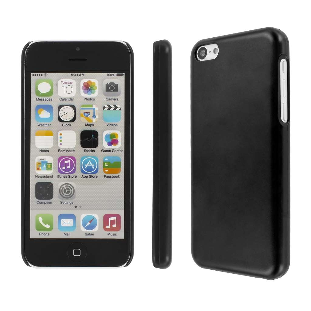 Apple iPhone 5C MPERO Slim Fit Hard Case Cover Black Matte
