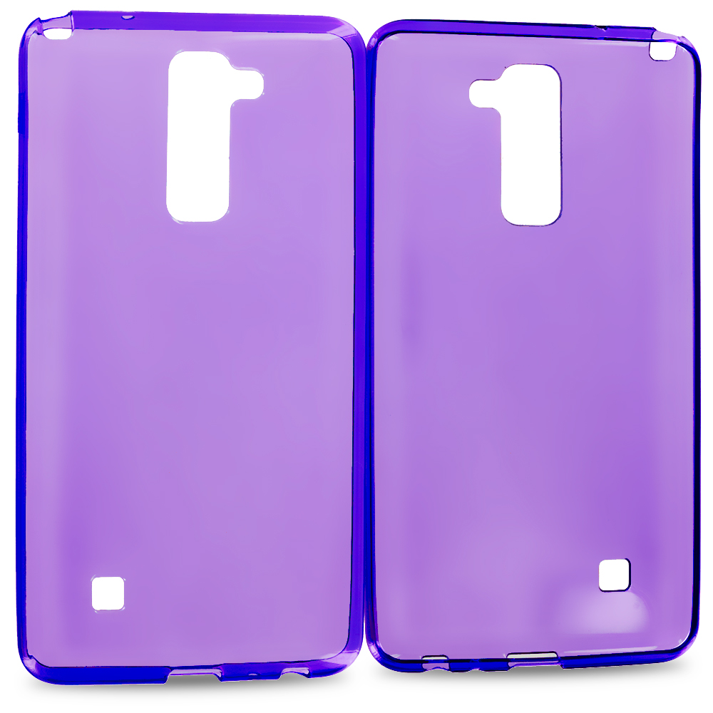 LG G Stylo 2 LS775 Purple TPU Rubber Skin Case Cover