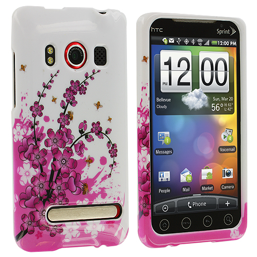 HTC EVO 4G Spring Flowers Design Crystal Hard Case Cover
