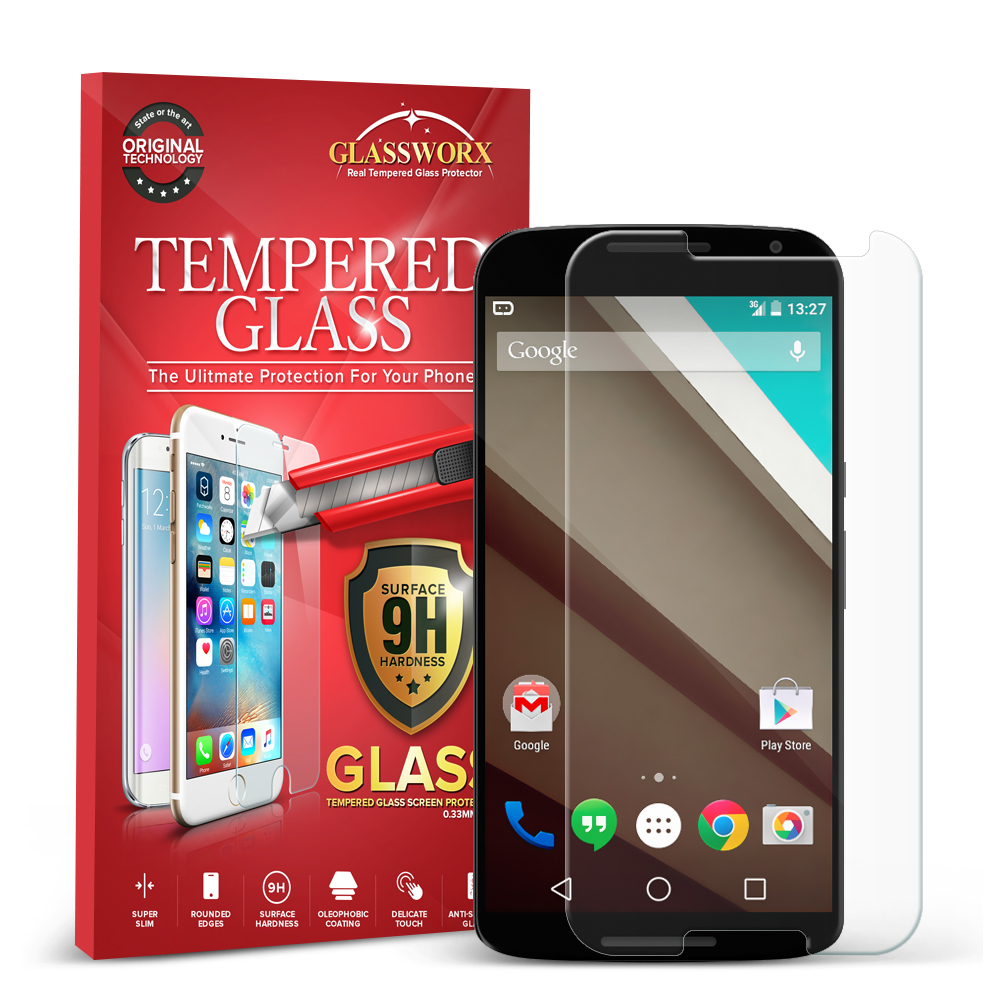 Motorola Google Nexus 6 GlassWorX HD Clear Tempered Glass Screen Protector