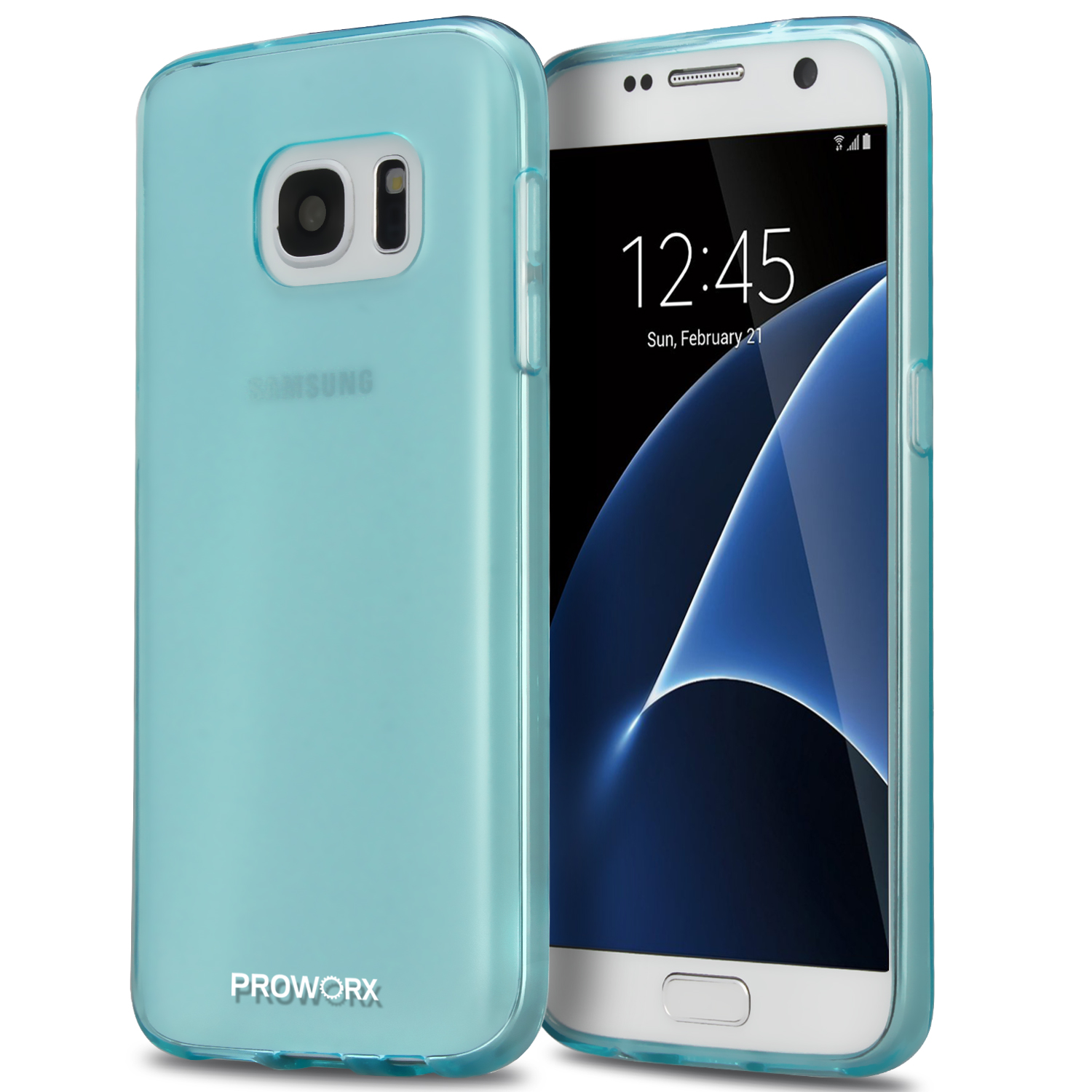 Samsung Galaxy S7 Mint Green ProWorx Ultra Slim Thin Scratch Resistant TPU Silicone Case Cover