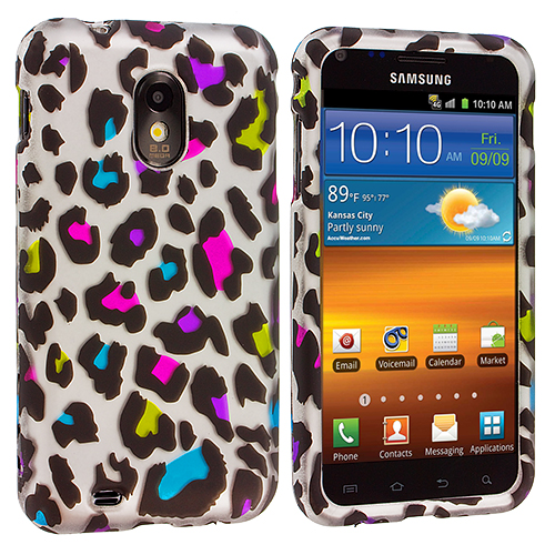 Samsung Epic Touch 4G D710 Sprint Galaxy S2 Colorful Leopard Hard Rubberized Design Case Cover