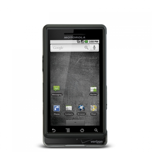 Motorola Droid A855 Black Hard Rubberized Case Cover
