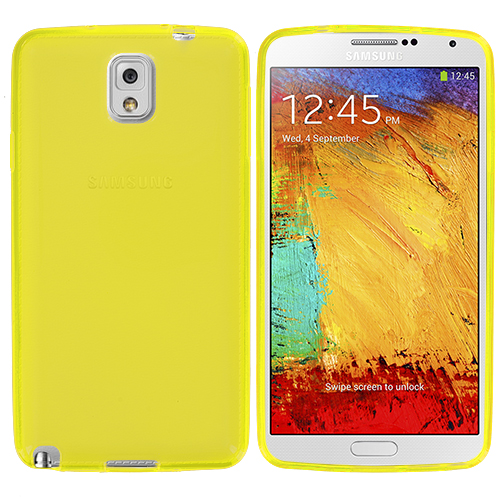 Samsung Galaxy Note 3 N9000 Yellow TPU Rubber Skin Case Cover