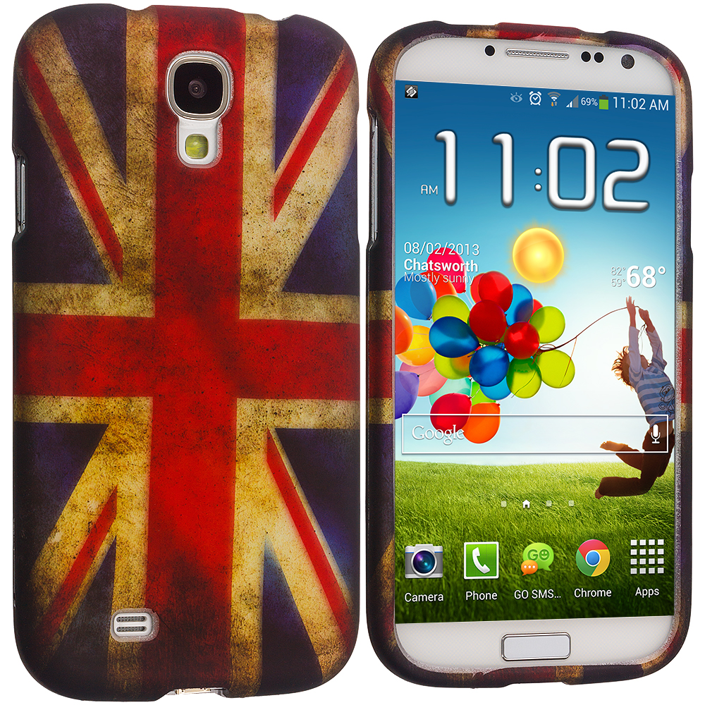 Samsung Galaxy S4 The Union Flag Hard Rubberized Design Case Cover