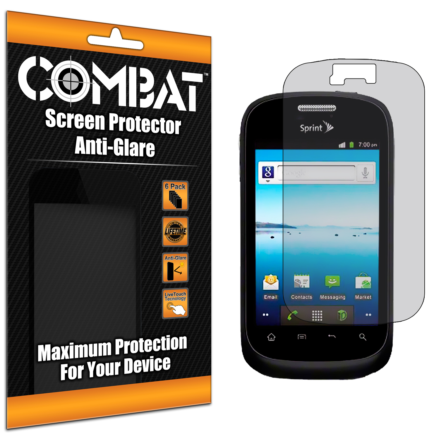 ZTE Fury N850 Combat 6 Pack Anti-Glare Matte Screen Protector