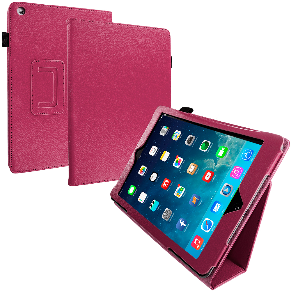 Apple iPad Air Hot Pink Folio Pouch Case Cover Stand