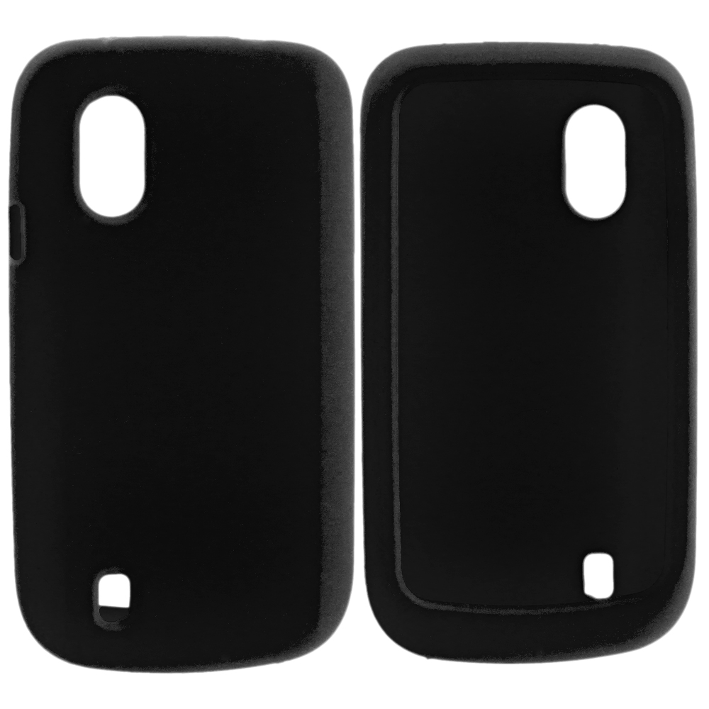 ZTE Concord Black Silicone Soft Skin Case Cover