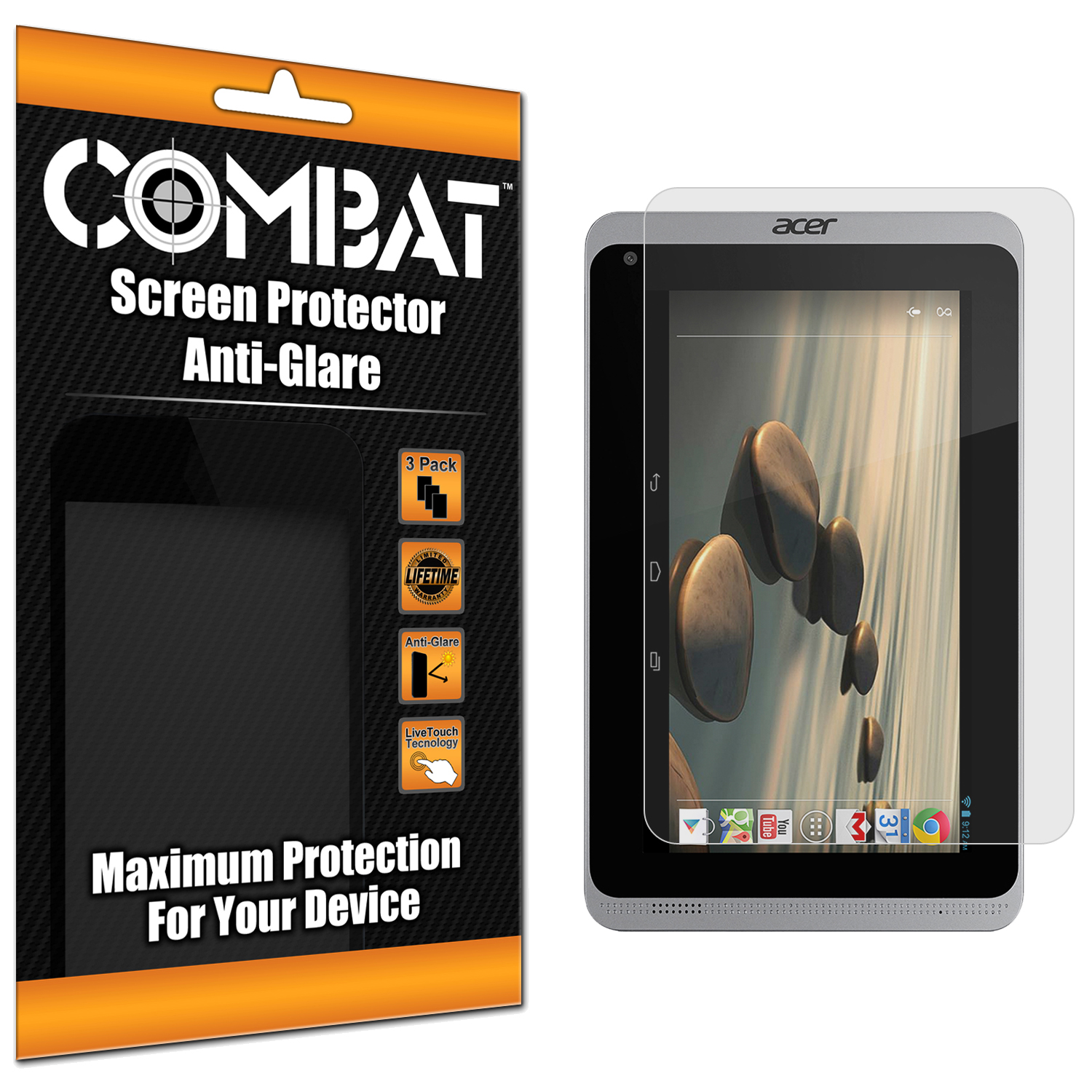 Acer Iconia B1-720 Combat 3 Pack Anti-Glare Matte Screen Protector