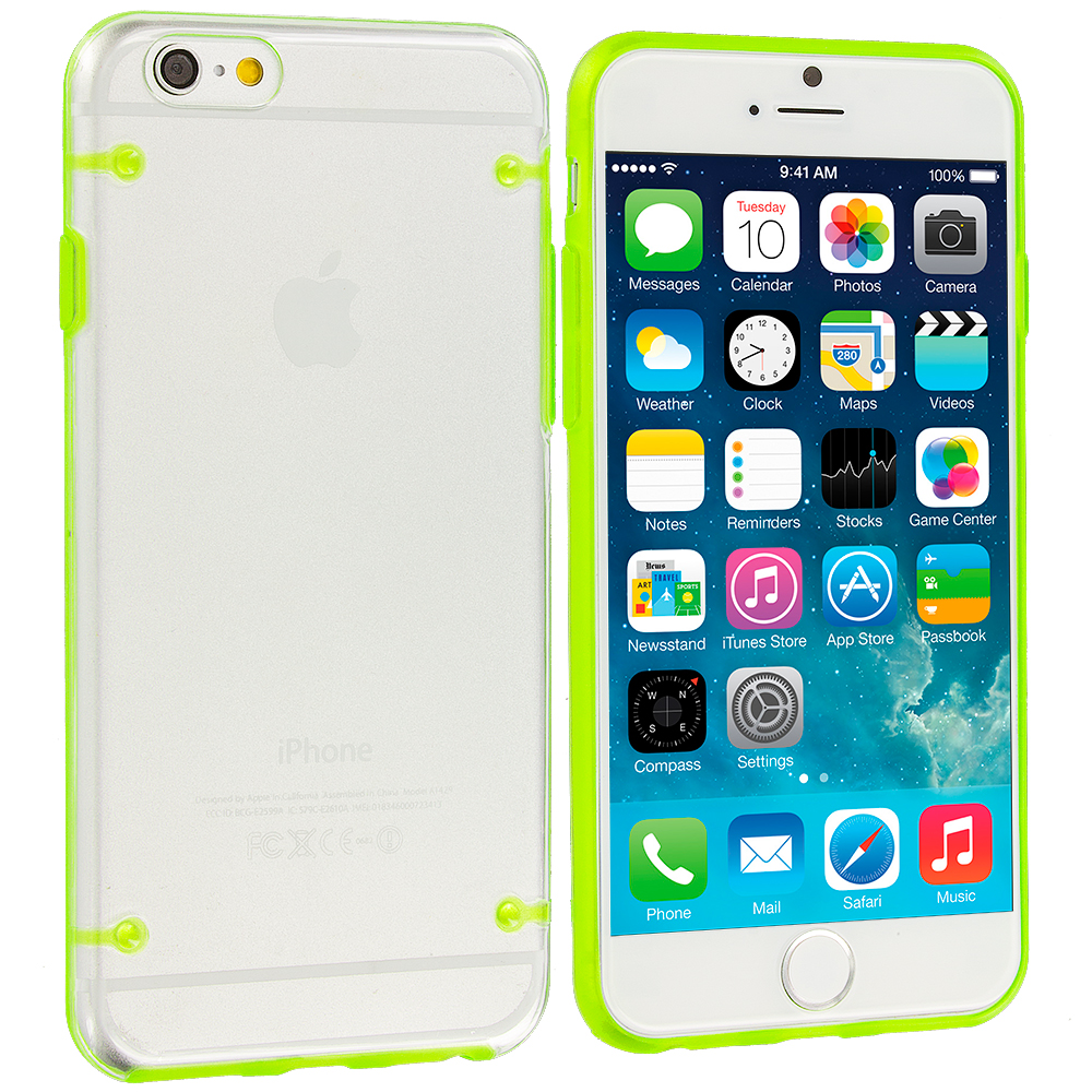 Apple iPhone 6 Plus 6S Plus (5.5) 8 in 1 Combo Bundle Pack - Crystal Robot Hard Case Cover : Color Green