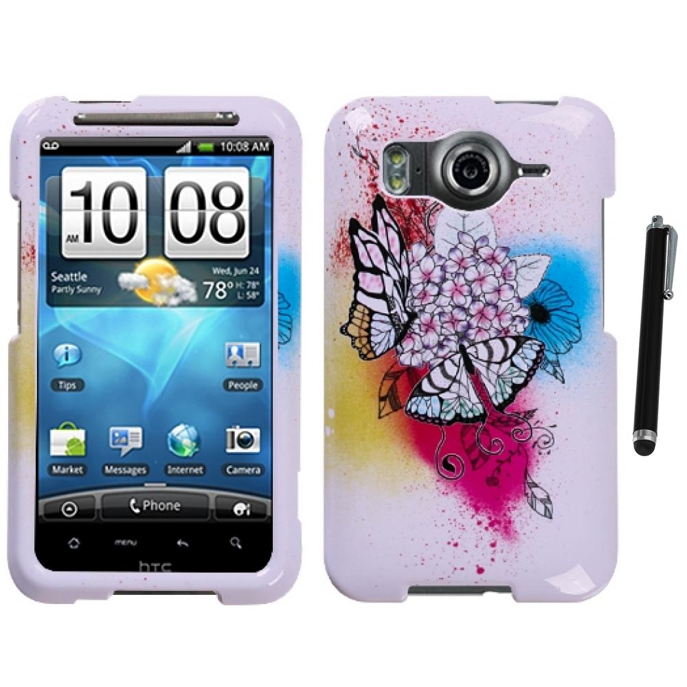 HTC phone cases for htc inspire : For HTC Inspire 4G Design Snap-On Hard Case Phone Cover Stylus Pen ...
