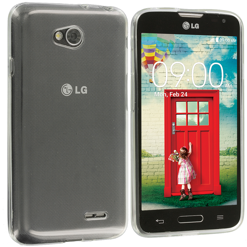 LG Optimus L70 Exceed 2 Realm LS620 Clear TPU Rubber Skin Case Cover