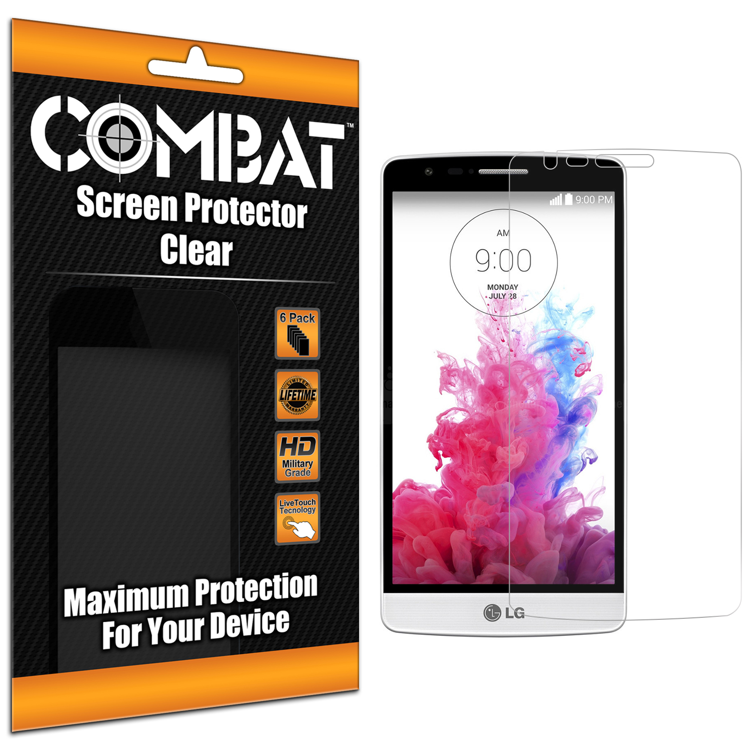 LG G3 Vigor D725 G3s Combat 6 Pack HD Clear Screen Protector