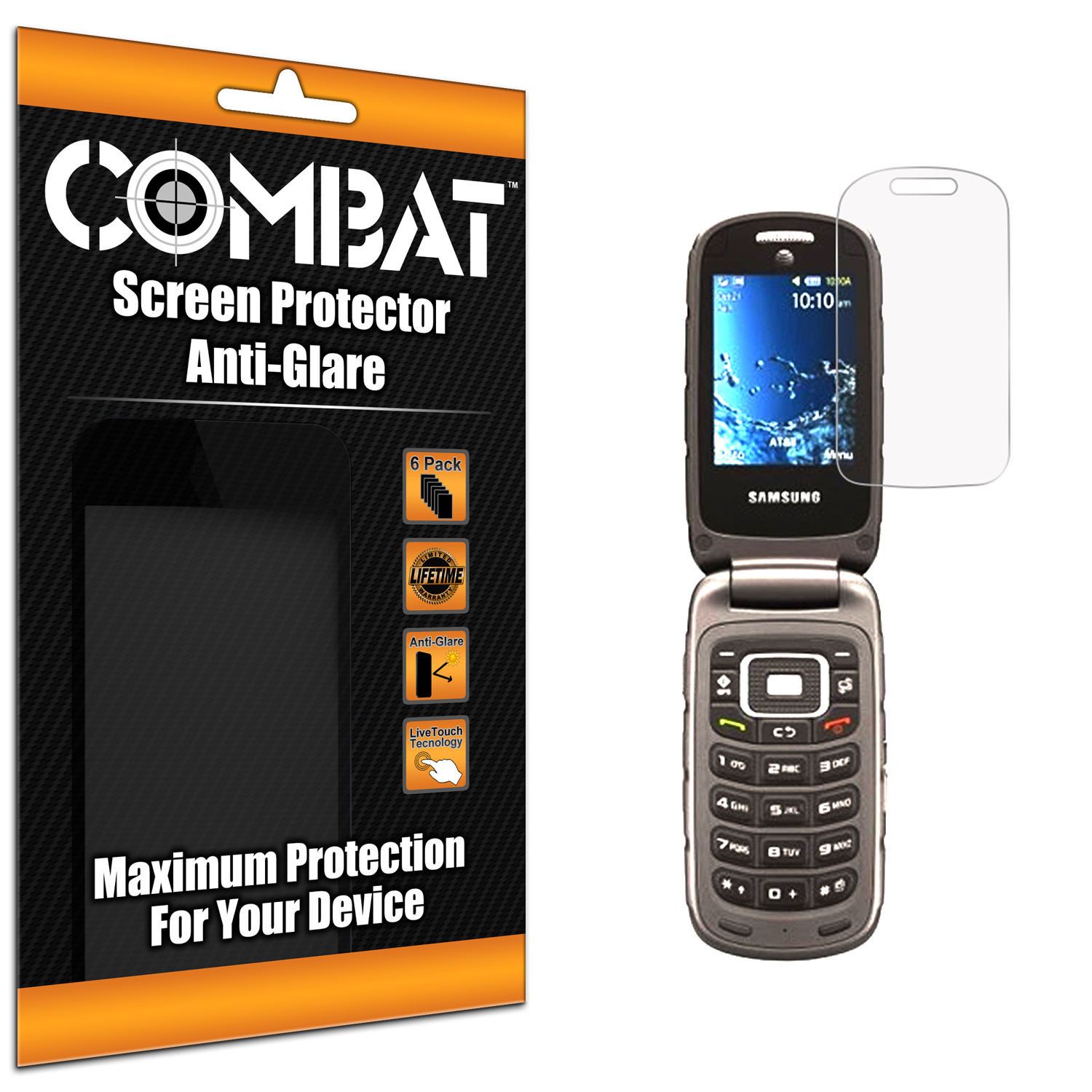 Samsung Rugby 4 Anti Glare Combat 6 Pack Anti-Glare Matte Screen Protector