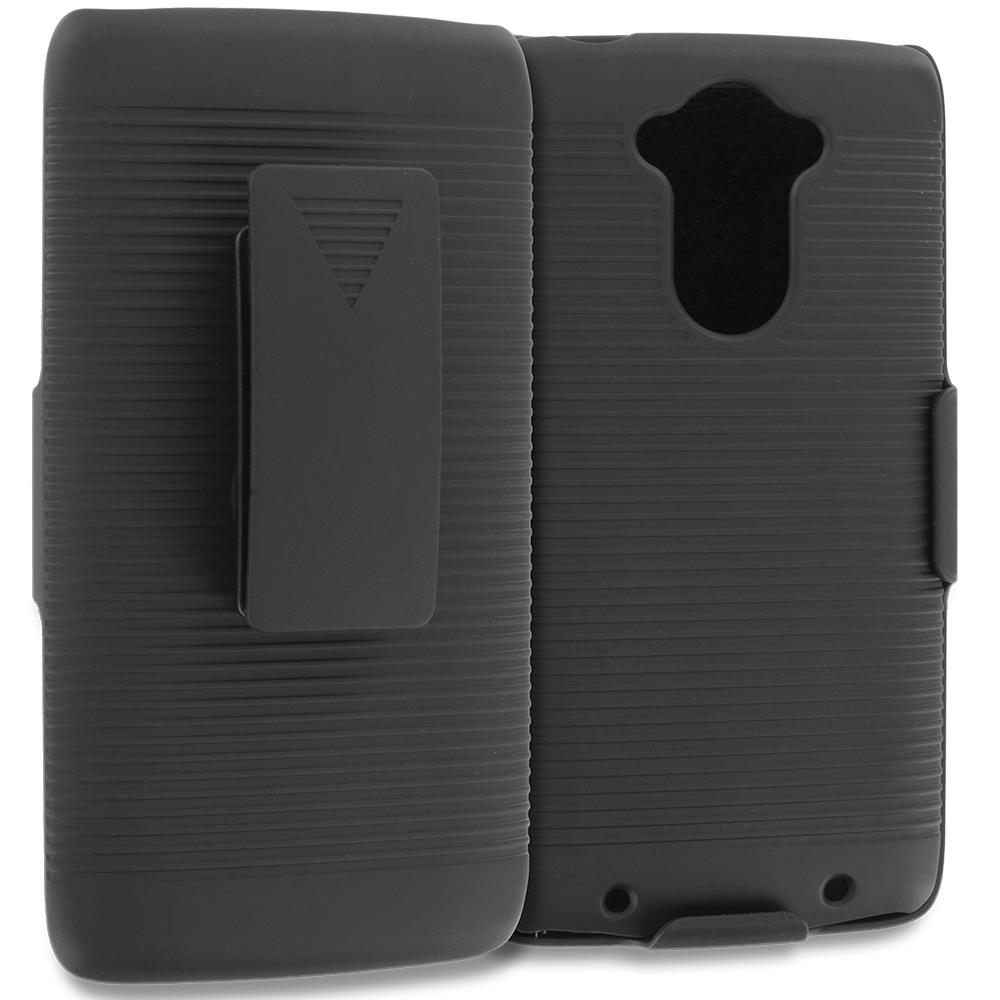 Motorola Droid Turbo Black Belt Clip Holster Hard Case Cover