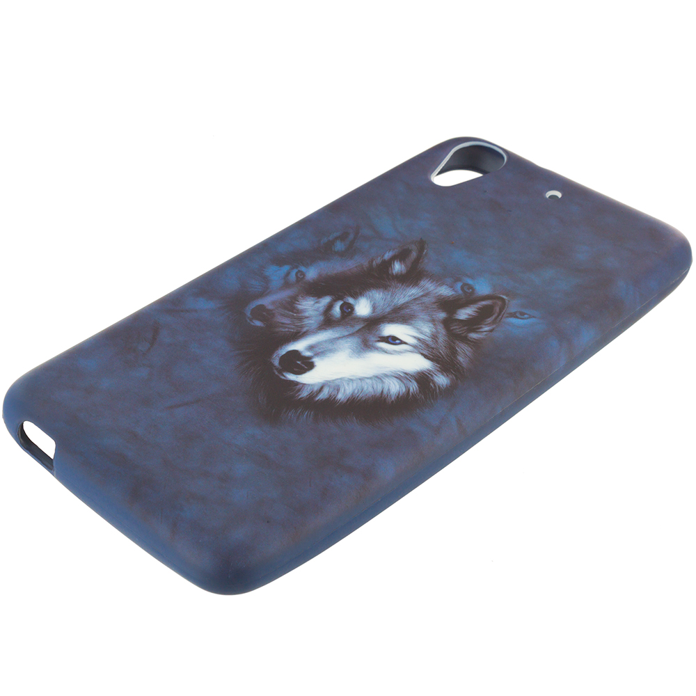 HTC Desire 626 / 626s Wolf TPU Design Soft Rubber Case Cover