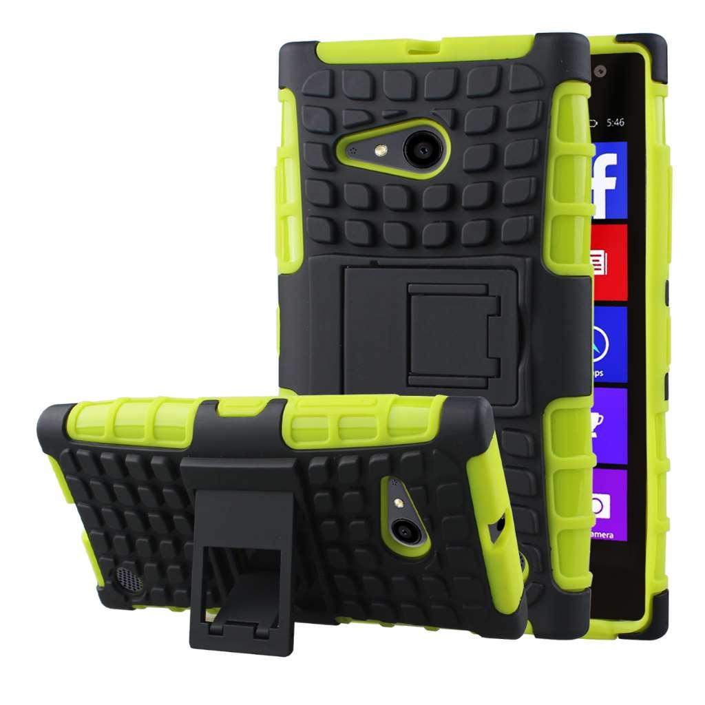 Nokia Lumia 735 - Neon Green MPERO IMPACT SR - Kickstand Case Cover