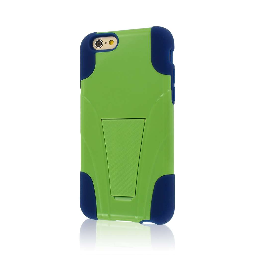Apple iPhone 6/6S - Blue / Green MPERO IMPACT X - Kickstand Case Cover