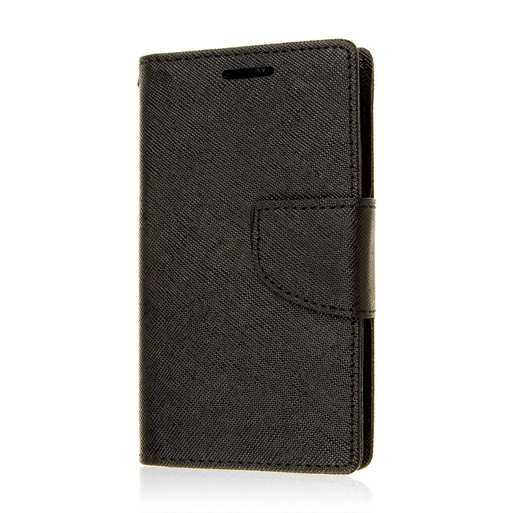 Alcatel OneTouch Evolve 2 - Black MPERO FLEX FLIP 2 Wallet Stand Case Cover