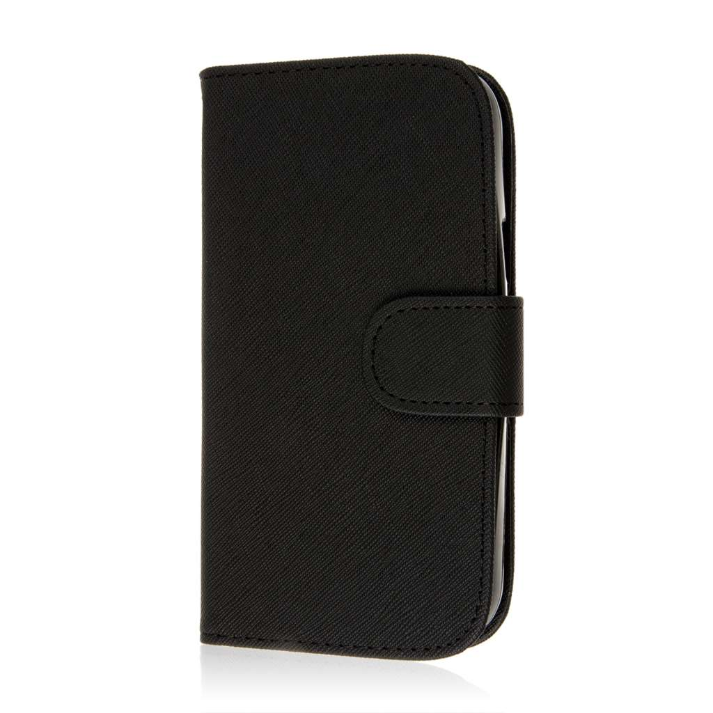 ZTE Grand S Pro - Black MPERO FLEX FLIP Wallet Case Cover