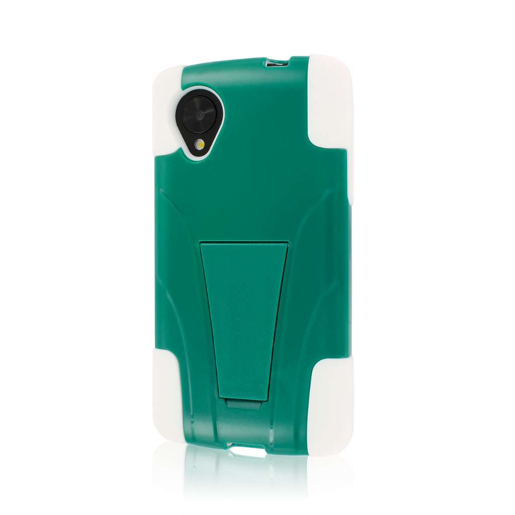 Google Nexus 5 - TEAL GREEN MPERO IMPACT X - Kickstand Case Cover