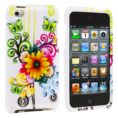 Apple iPod Touch 4th Generation Sunflower Design Crystal Hard Case Cover